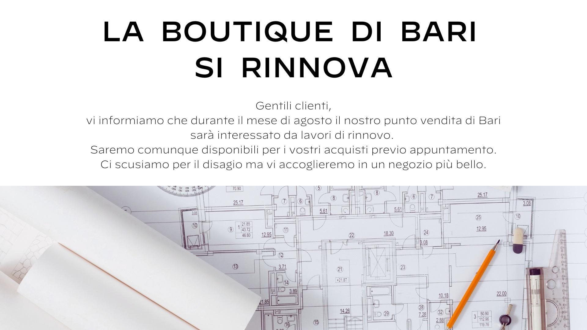 Banner La boutique di Bari si rinnova