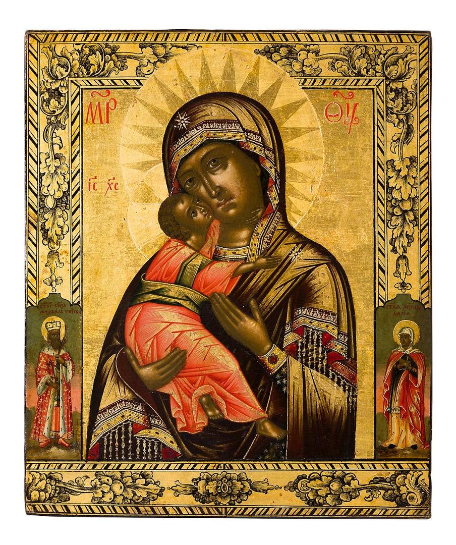 Icona Russa Madonna di Vladimir
